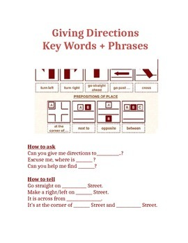Giving Directions ESL
