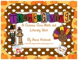 Giving Thanks Math and Literacy Unit