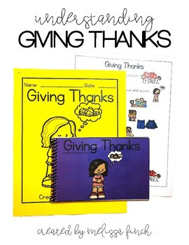 Giving Thanks- Social Story for Student's with Special Needs