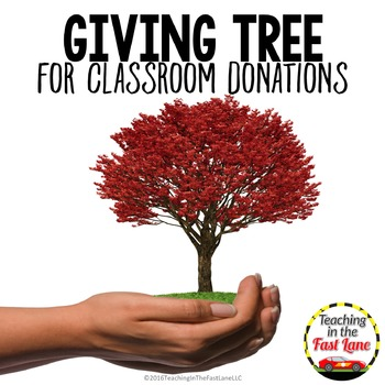 Giving Tree for Classroom Donations FREEBIE