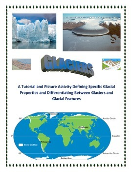 Glaciers and Erosion:  Terminology, Features, and Notes (