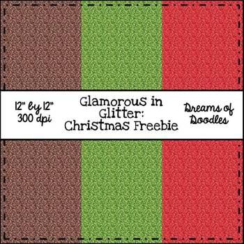 Glamorous in Glitter: Christmas Digital Paper Pack