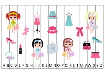 Glamour Girls themed Alphabet Sequence Puzzle child daycar