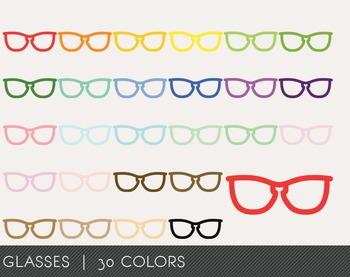 Glasses Digital Clipart, Glasses Graphics, Glasses PNG, Ra