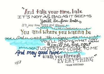 Glen Hansard Motivational Wall Art