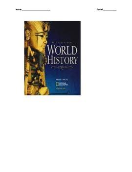Glencoe - World History - Chapter 10 notes w/20 quiz