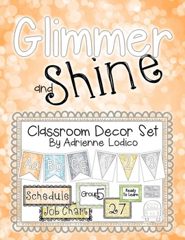 Glimmer and Shine Classroom Decor Set ~ Relaxed and pretty