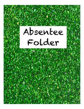 Glitter Absentee Folder