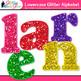 Alphabet Letters Clip Art {Rainbow Glitter Lowercase & Pun
