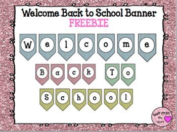 Glitter Back to School Banner FREEBIE
