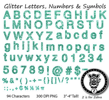 Alphas Glitter Letter Numbers & Symbols! Alpha