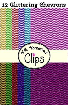 """""""Glitter Chevrons"""" Paper Collection"""