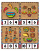 Glitter Cinco de Mayo Counting 0 to 20 Clip Card Math Cent