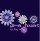 Glitter Digital Flowers
