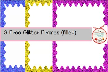 Glitter Frames (3 filled frames) for Commercial or Personal Use!