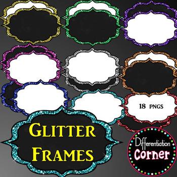 Glitter Frames or Labels *Fancy*