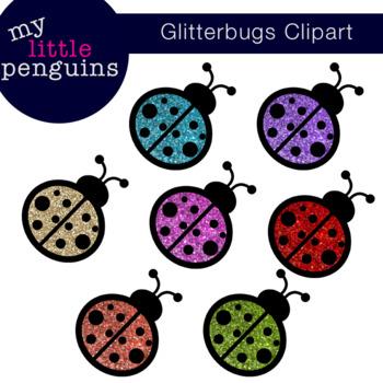 Glitter Ladybug Clipart (clip art)