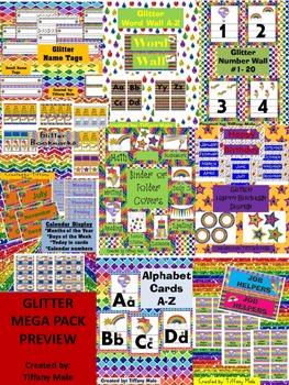 Glitter MEGA classroom pack