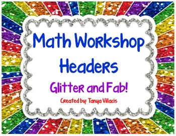 FREE** Glitter Math Workshop Headers - Perfect for Your Ma