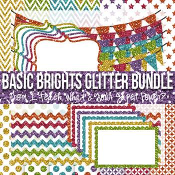 Glitter Mega Paper Pack and Elements Bundle