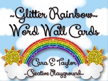 Glitter Rainbow~ Word Wall Header Cards