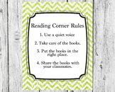 Glitter Reading Corner Rules
