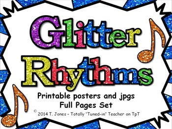 Glitter Rhythms - Full Page Posters and jpgs to build your