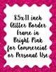 Glitter Scallop Border Frames, 12 digital border frames, s