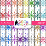 Glitter Snowflake Paper {Scrapbook Backgrounds for Task Ca
