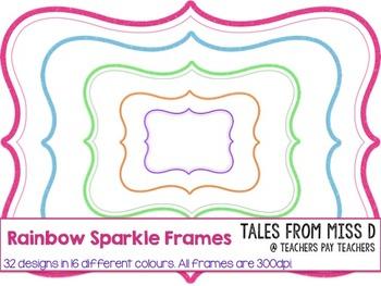 Rainbow Sparkle Borders