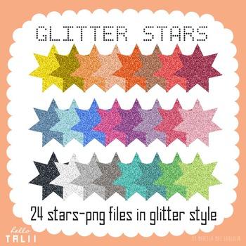 Clip Art: Glitter Stars