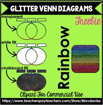 Glitter Venn Diagram Clip Art Freebie Mrs Davies