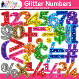 Glitter Math Numbers Clip Art - Clip Art Numbers for Math,