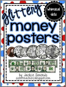 Glittery Money Posters *whimsical dots*
