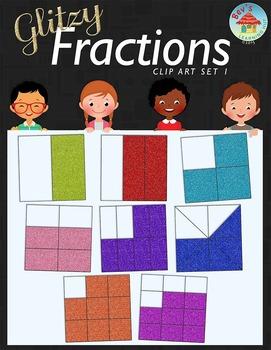 Glitzy Fractions Clip Art Set 1