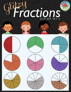 Glitzy Fractions Clip Art Set 2