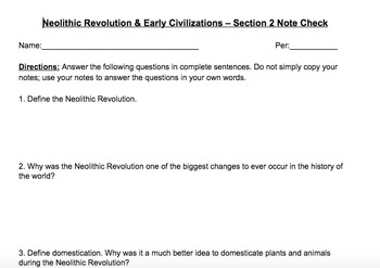 Global 9 - Unit #1 - Neolithic Revolution & River Valley C