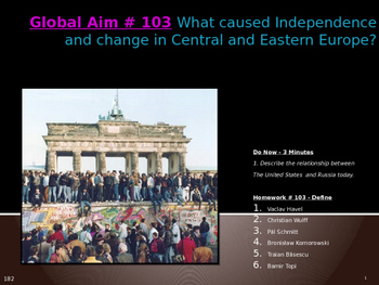 Global Aim # 103 What caused change in Central and Eastern
