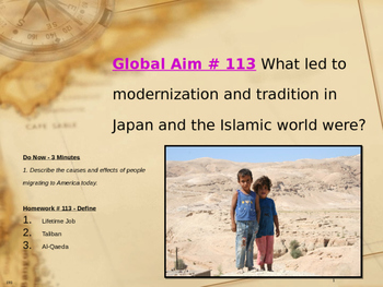 Global Aim # 113 What led to modernization in Japan and th