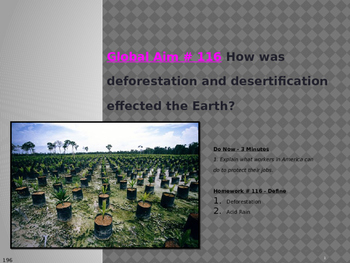 Global Aim # 116 How was deforestation and desertification