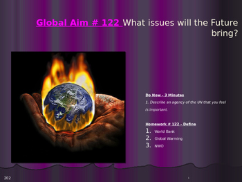 Global Aim # 122 What issues will the Future bring?