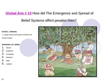 Global Aim # 13 How the Spread of Belief Systems affected