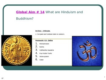 Global Aim # 14 What are Hinduism and Buddhism?