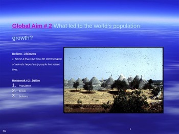 Global Aim # 2 What led to the world's population growth?