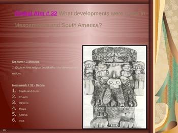 Global Aim # 32 What developments were made in Mesoamerica