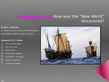 """Global Aim # 37 How was the """"New World"""" discovered?"""
