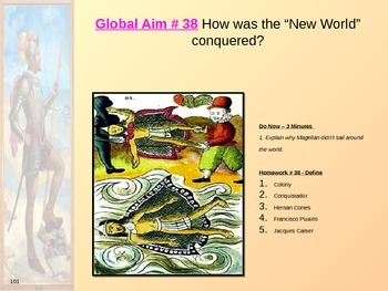 """Global Aim # 38 How was the """"New World"""" conquered?"""
