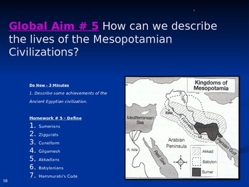 Global Aim # 5 How can we describe the lives of the Mesopo
