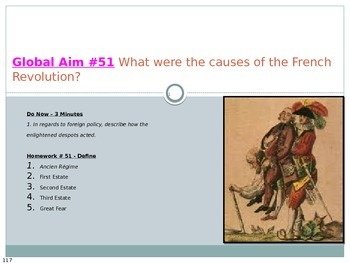 Global Aim #51 What were the causes of the French Revolution?
