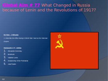 Global Aim # 77  Lenin and the Revolutions of 1917?